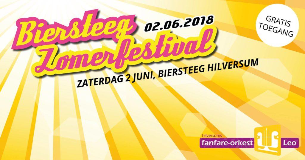 Biersteeg Zomerfestival 2018 op 2 juni